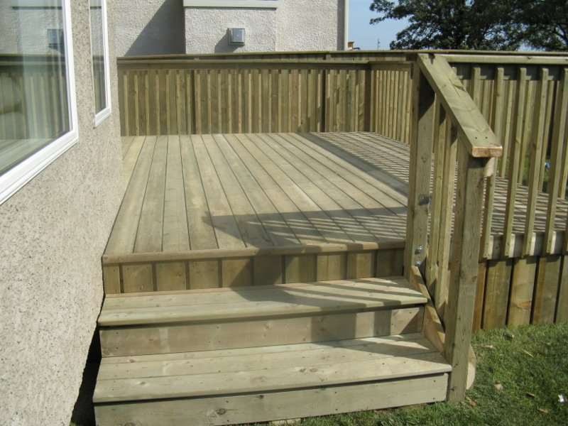 Treated green deck